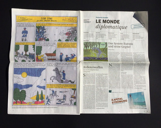 I was invited to draw a comic for the german issue of Le Monde diplomatique.